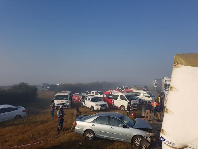 Multiple-vehicle collision leaves four dead, at least 20 others injured on the N1 near Grasmere